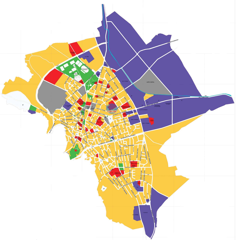 Мапа на град Струмица