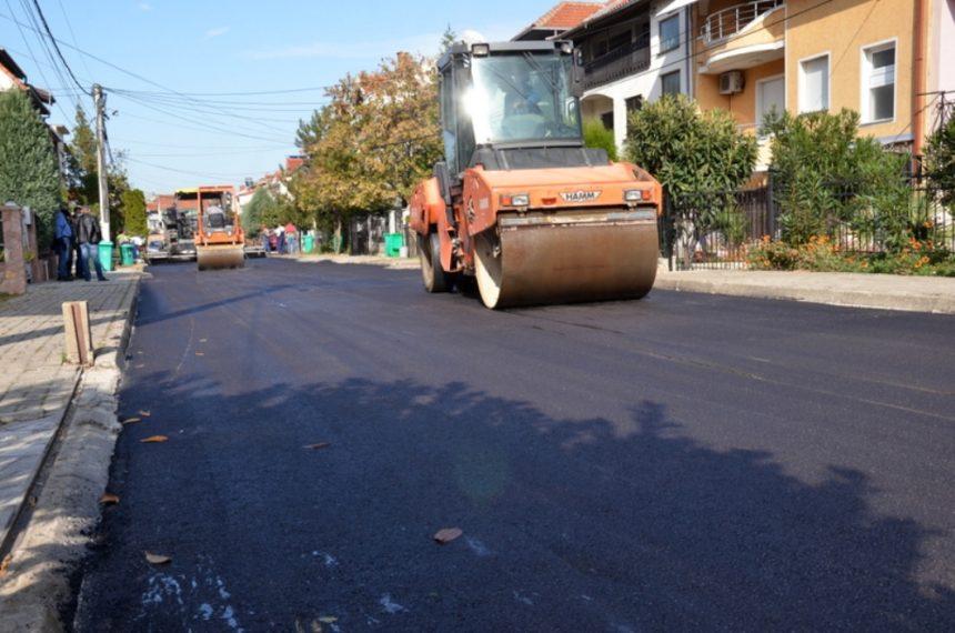 "Втор слој асфалт е ставен на улицата ""Максим Горки"""