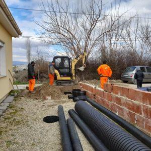 Во Дабиле се врши приклучување на домаќинствата на канализацискиот систем