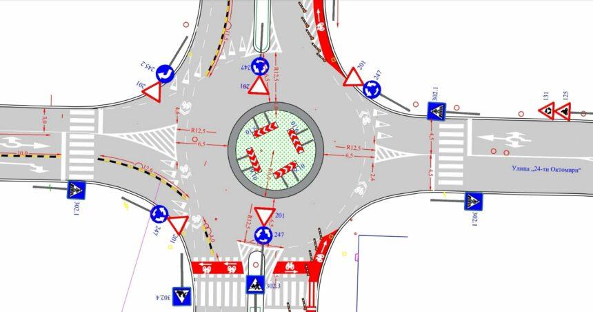 """Новиот кружен тек на булеварот """"Ленинова"""" се уште е во фаза на изведба"""